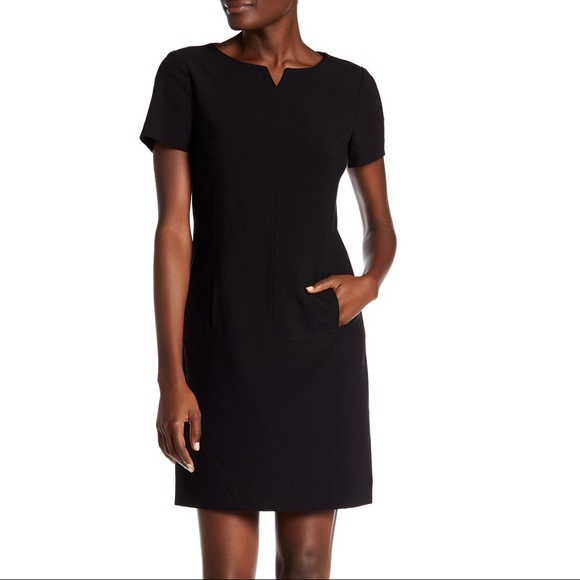 85fe5dec Tahari Dresses | Asl Bi Stretch Shift Dress Black Sz 4 Nwt | Poshmark